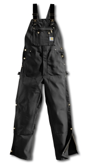 Mens Zip To Thigh Bib Overalls-