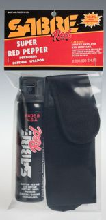 Magnum Pepper Spray 4.4 oz with Flip Top and Holster-Sabre