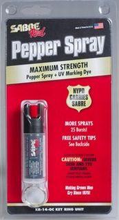 Key Ring Pepper Spray (0.54 oz/aprox. 25 shots)-