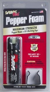 Pepper Foam Home Self-Defense Spray (2.5 oz / 15 shots) with Mount-