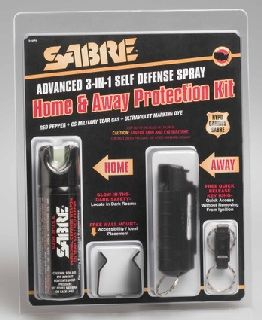 Combo Home Pepper Spray & Away Self Defense Spray - Protection Kit-Sabre