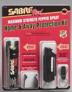 Combo Home Pepper Foam 2.5oz & Away Pepper Spray 0.54oz Protection Kit-Sabre