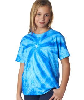 Gildan Tie-Dye Youth Neon One-Color Pinwheel Tee
