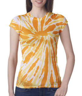 tie dye Juniors' Sublimation-Dyed Poly Tee