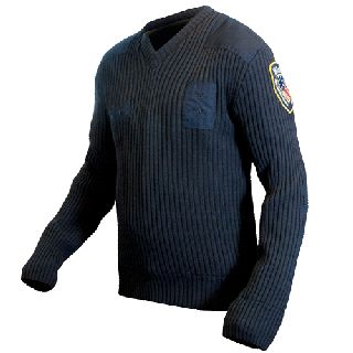 205XCR Lined V-Neck Sweater-Blauer
