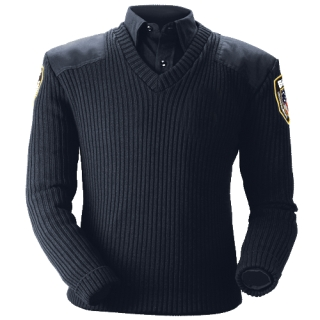 210 Classic V-Neck Sweater-Blauer