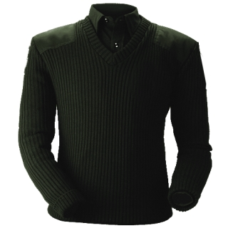 Lined V-Neck Sweater-Blauer