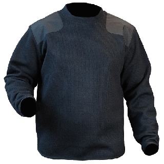 Fleece-Lined Crew Neck Sweater-Blauer