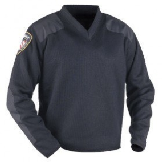 Fleece-Lined V-Neck Sweater-Blauer