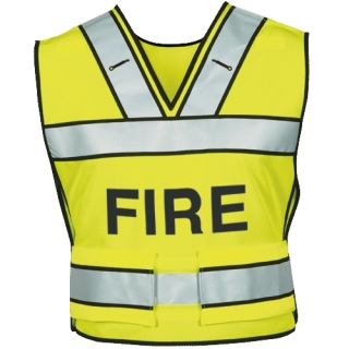 Breakaway Safety Vest W/ Fire Logo-Blauer