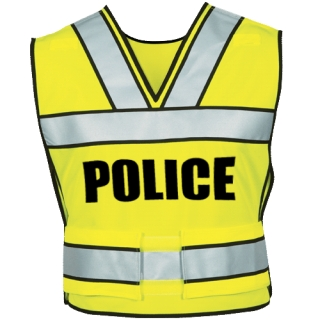 339p Breakaway Safety Vest W/ Police Logo-
