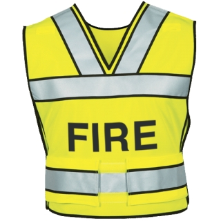 340F Breakaway Safety Vest w/ Fire Logo-Blauer