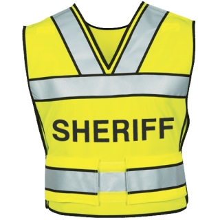 340S Breakaway Safety Vest w/ Sheriff Logo-Blauer