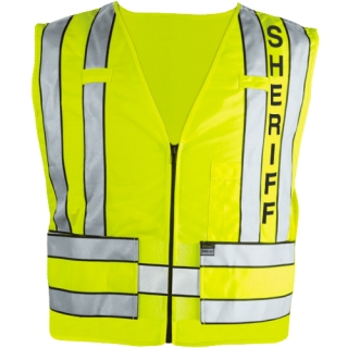 Zip-Front Safety Vest w/ Sheriff Logo-