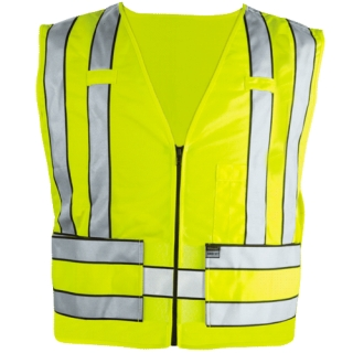 343 Zip-Front Breakaway Safety Vest-Blauer