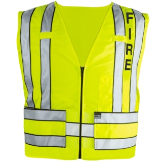 343F Zip-Front Breakaway Safety Vest w/ Fire Logo-Blauer