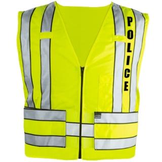 343p Zip-Front Breakaway Safety Vest W/ Police Logo-