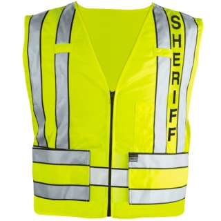 343S Zip-Front Safety Vest w/ Sheriff Logo-