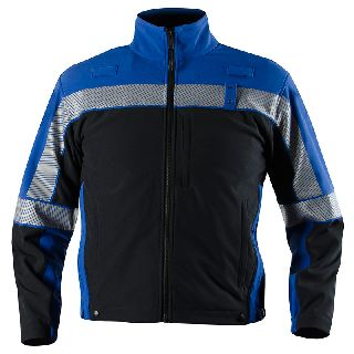 Colorblock Softshell Fleece Jacket-Blauer