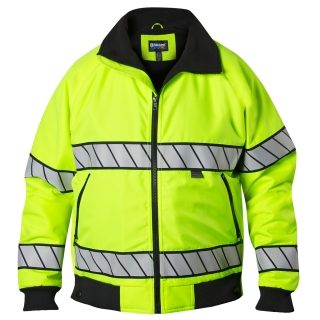 Hi-Vis Fleece Lined Bomber Jacket-Blauer