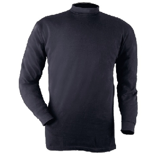 Mock Turtleneck-Blauer