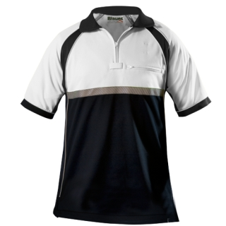 8133 Colorblock Performance Polo Shirt-Blauer