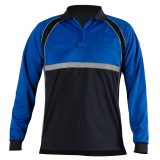 Colorblock Performance Polo Shirt-Blauer