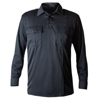 Long Sleeve Performance Patrol Polo-Blauer