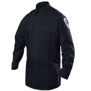 8431-1 Long Sleeve Cotton Blend Shirt-Blauer