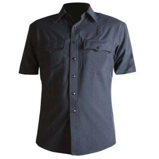 Short Sleeve Wool Blend Supershirt™-Blauer