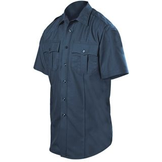 Short Sleeve Wool Blend Shirt-Blauer
