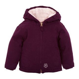 Infant Girls Washed Hooded Coat