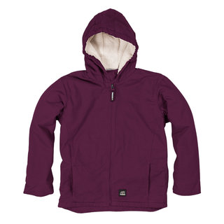 Girls Softstone Hooded Coat (Sherpa)-