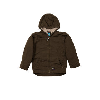 Boys Washed Hooded Coat