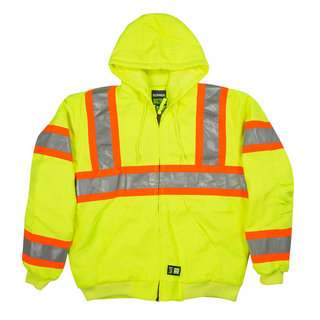 Hi-Vis Class 3 Hooded Active Jacket-