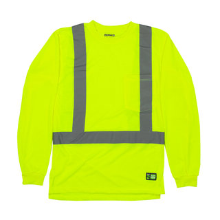 Hi-Vis Class 2 LS Pocket Tee, Jersey-Berne Apparel