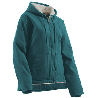 Ladies Washed Hooded Coat-