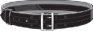 Suede Lined Belt, w/ Hook and Loop System-