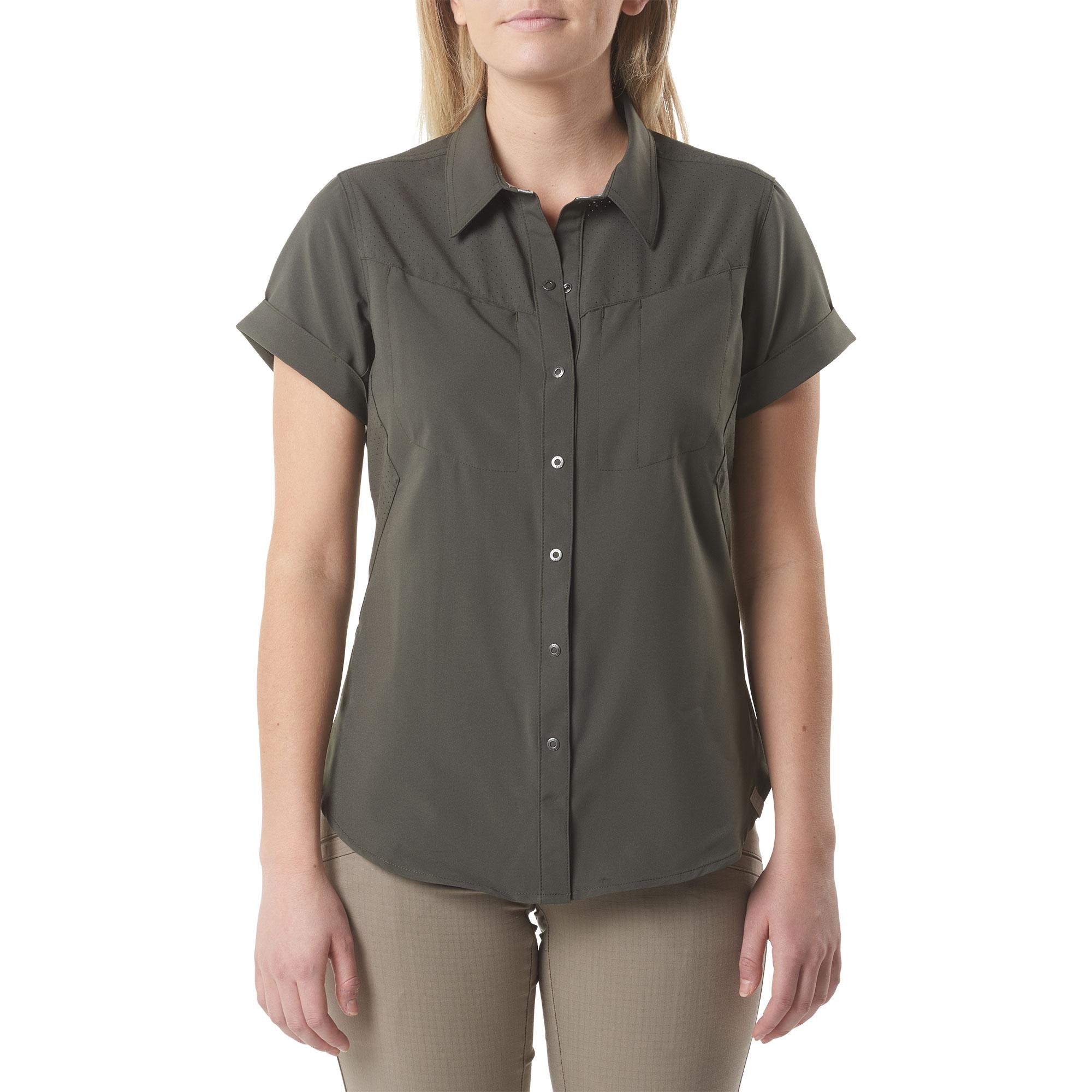 6b045bdd229 5.11 Tactical Womens Freedom Flex Woven Short Sleeve Shirt-5.11 Tactical