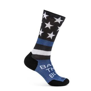 5.11 Tactical Sock & Awe Crew Shirt Back The Blue Flag-