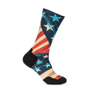 5.11 Tactical Sock & Awe Patriotic Fold Red White Blue-5.11 Tactical