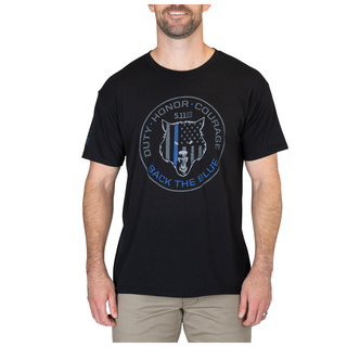 5.11 Tactical MenS Alpha Dog Blue Tee-5.11 Tactical