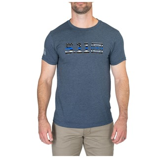 41243AAZF 5.11 Tactical MenS Legacy Blue Flag Tee-