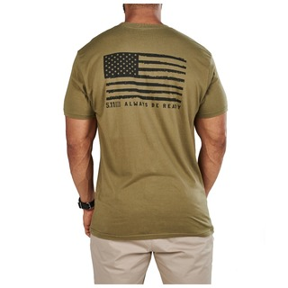 5.11 Tactical MenS Black Out Flag Tee-