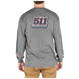 5.11 Tactical MenS Number Plate Long Sleeve Tee-5.11 Tactical