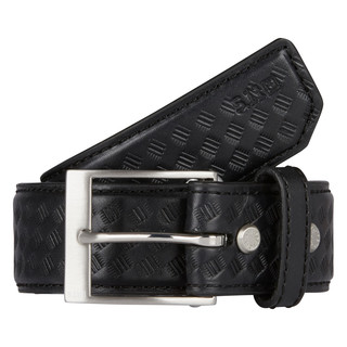 "1.5"" Basketweave Leather Belt-"