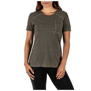 5.11 Tactical Amelia Crew Shirt Tri-Blend Short Sleeve Tee-