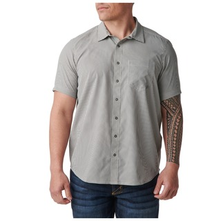 5.11 Tactical Men Omar Gingham Short Sleeve Shirt-