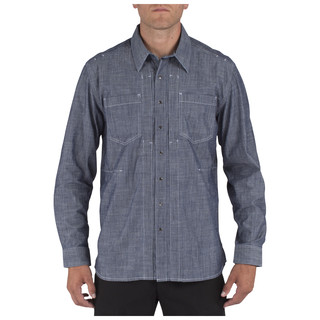 5.11 Tactical Men Chambray Shirt-5.11 Tactical