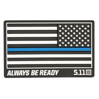 5.11 Tactical Thin Blue Line Reverse Rubber Patch-
